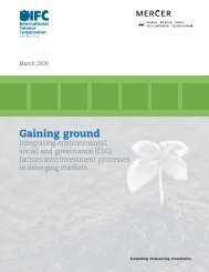 Gaining Ground - Sustainable Investment Rising in Emerging ... - IFC