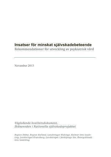 Kvalitetsdokument+självskadebeteende+Skånenoden