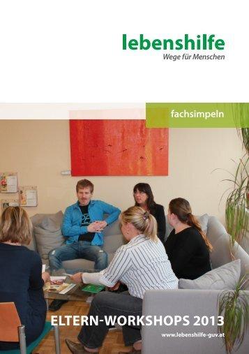 eltern-workshops 2013 - Lebenshilfe Graz und Umgebung - Voitsberg