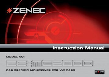 Instruction Manual - Zenec