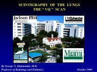 """SCINTIGRAPHY OF THE LUNGS THE """" VQ """" SCAN"""