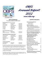 OBFS Annual Report 2012 - Organization of Biological Field Stations