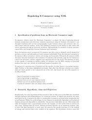 Regulating E-Commerce using XML - University of Malta