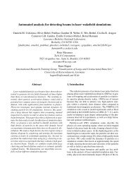Automated analysis for detecting beams in laser wakefield simulations