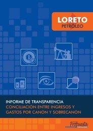 Loreto: Informe de transparencia. Conciliación entre ingresos y