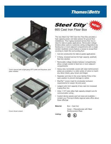 steel city - 668-s ultra shallow floor box