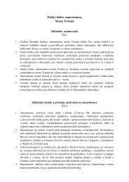 Etický kódex zamestnanca Mesta Trstená
