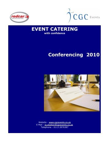 EVENT CATERING Conferencing 2010 - Redcar Racecourse