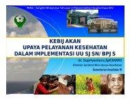 Kebijakan Upaya Pelayanan Kesehatan Dalam Implementasi UU ...