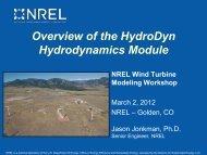 NREL Wind Turbine Modeling Workshop