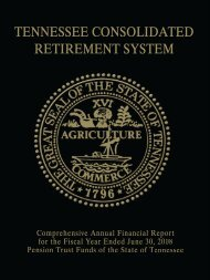 2008 Annual TCRS Report - Tennessee Department of Treasury