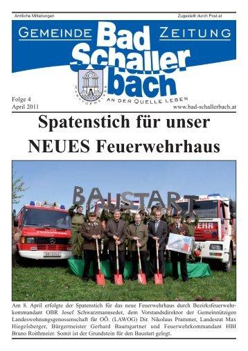 Spatenstich für unser NEUES Feuerwehrhaus - Gemeinde Bad ...