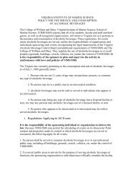 Policy for the Service and Consumption of Alcoholic Beverages