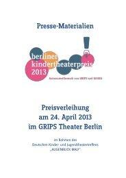 x PresseMappe bktp13 - GRIPS Theater