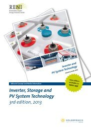 Inverter, Storage and PV System Technology 3rd edition, 2013
