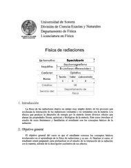 Fisica de radiaciones - Departamento de Física - Universidad de ...