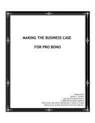 Making the Business Case for Pro Bono - New York City Bar ...