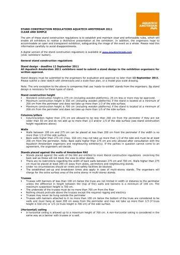 Stand-regulations-Aquatech-Amsterdam-2011-EN - Aquatechtrade