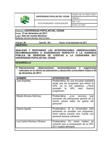 Respuestas a Ciudadanos - Universidad Popular del Cesar