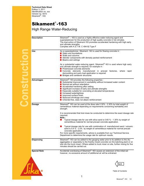 Sikament 163 - Sika Indonesia