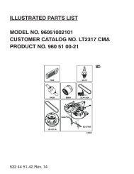IPL, LT2317 CMA, 96051002101, 2011-08, Tractor - Jonsered