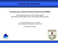Propostas para o desenvolvimento institucional da PMERJ