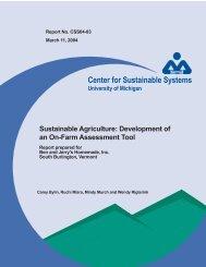 Development of an On-Farm Assessment Tool - Center for ...