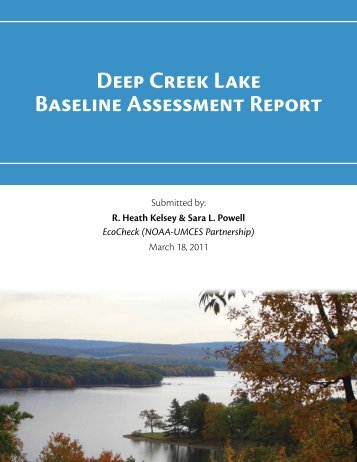 Deep Creek Lake Baseline Assessment Report - Integration and ...