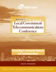 Local Government Telecommunications Conference - NATOA