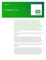 CA Spool r11 - CA Technologies