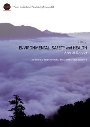 2002 Environmental, Safety & Health Report - TSMC