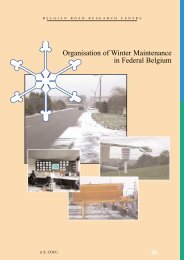 Organisation of Winter Maintenance in Federal Belgium - CRR