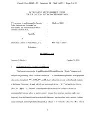 Decision on Motion to Dismiss - Public Interest Law Center of ...