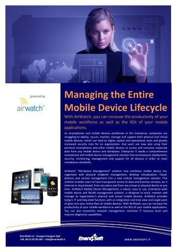 AirW atch - Mobile Device Management - Ener4Soft