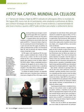 ABTCP NA CAPITAL MUNDIAL DA CELULOSE - Revista O Papel