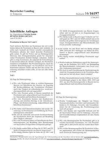 Schriftliche Anfragen - Bayerischer Landtag