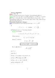 f : R → R Om f är strängt monoton s˚a är f injektiv. Omvändningen ...