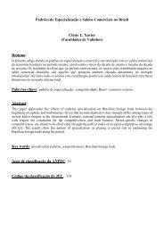 Padrões de Especialização e Saldos Comerciais no Brasil ... - Anpec