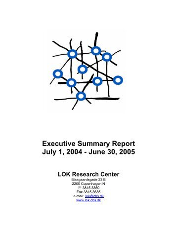 Executive Summary Report July 1, 2004 - June 30, 2005 - CBS