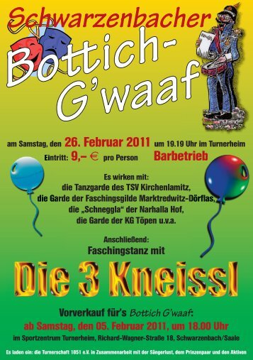 Flyer 2011 als PDF - Bottichgwaaf Schwarzenbach an der Saale