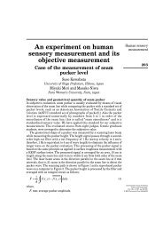 An experiment on human sensory measurement and its ... - Emerald