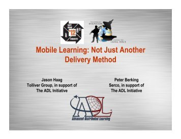 Mobile Learning: Not Just Another Delivery Method