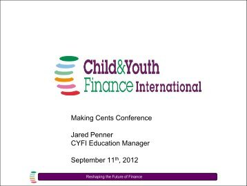 CYFI Presentation_Making Cents_regulation.pdf - Youth Economic ...