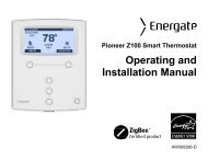 Pioneer Z100 Smart Thermostat Operating And Installation Manual