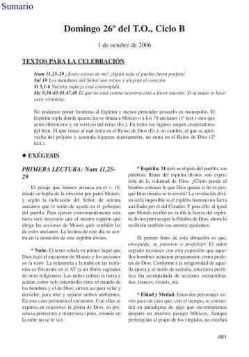 Domingo 26º del T.O., Ciclo B Sumario - Editorial Sal Terrae