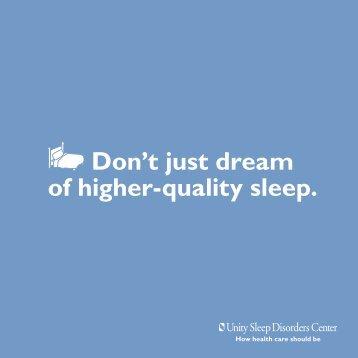 UHS-114 Sleep Brochure.indd - Unity Health System