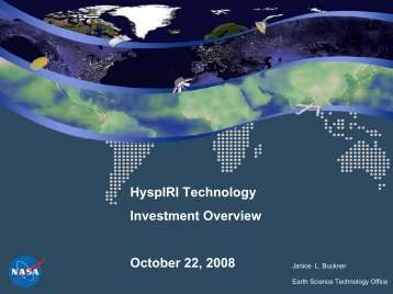 HyspIRI Technology Investment - NASA Earth Science Decadal ...