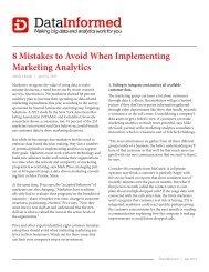 8 Mistakes to Avoid When Implementing Marketing Analytics - Merkle
