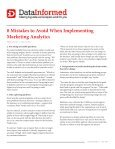 8 Mistakes to Avoid When Implementing Marketing Analytics - Merkle - Page 2
