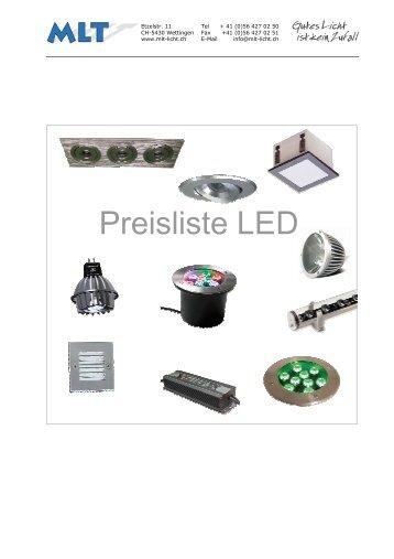 Preisliste LED - MLT Licht-Technik AG